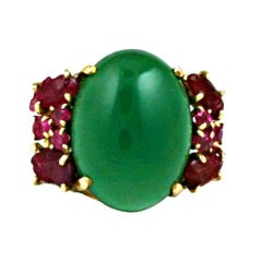 Attractive Ruby Fruit Salad and Crysophrase Ring