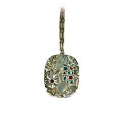 Handmade Modernist Silver Pendant