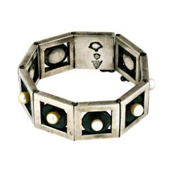Antonio Modernist Pearl Link Bracelet