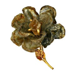 Rare Felix Flower Brooch