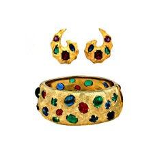 Castlecliff Jeweled Cuff Set