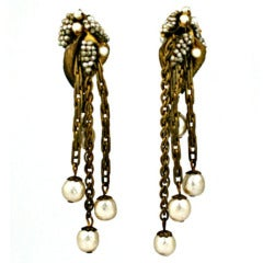 Miriam Haskell Haskell Cascade Pearl Earrings