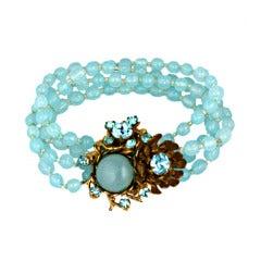 Aquamarine Miriam Haskell Bracelet