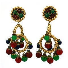 Ornate French Haute Couture Earclips
