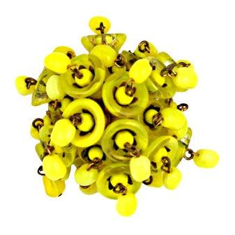Miriam Haskell Yellow Bell Brooch 1
