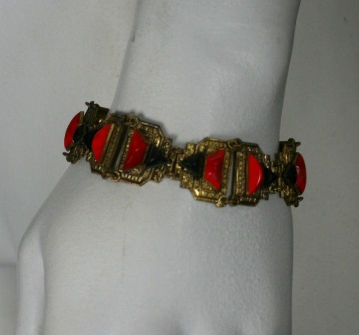 Women's Art Deco Czech Bracelet For Sale
