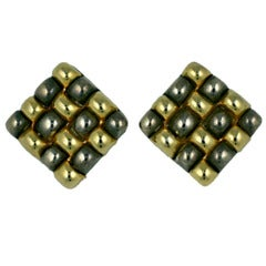 Paco Rabanne Quilted Earrings