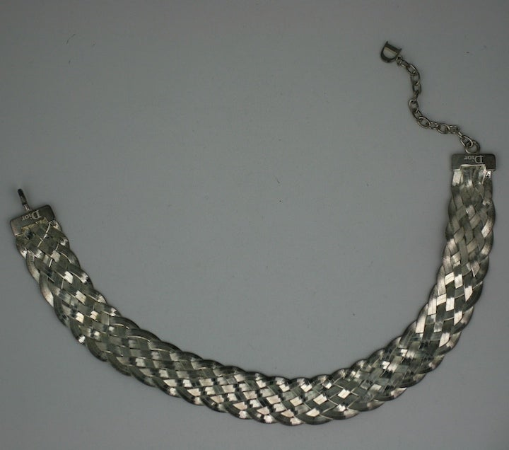 Women's Dior Woven Sterling Choker For Sale