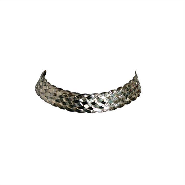 Dior Woven Sterling Choker For Sale