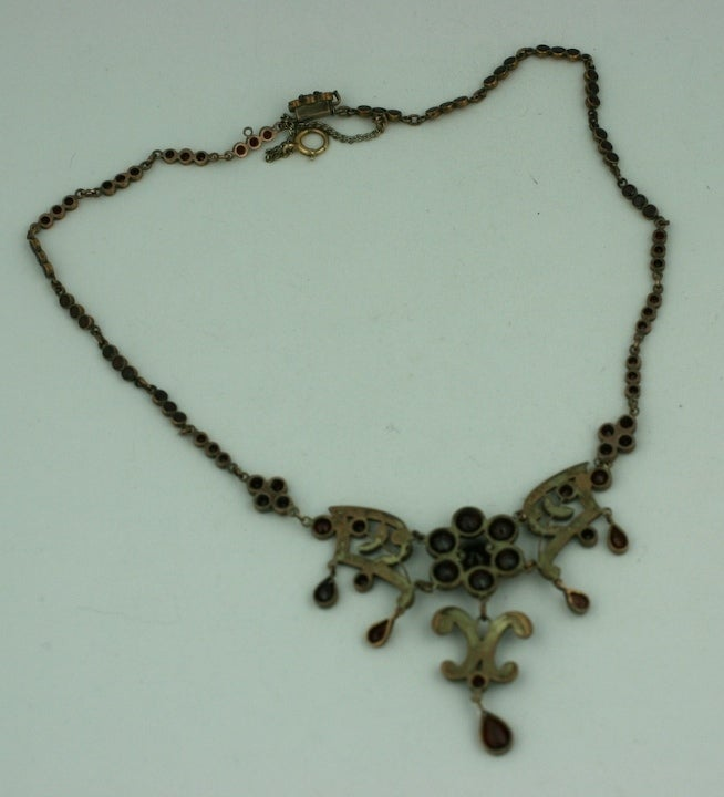 Ornate Victorian Garnet Necklace For Sale 1