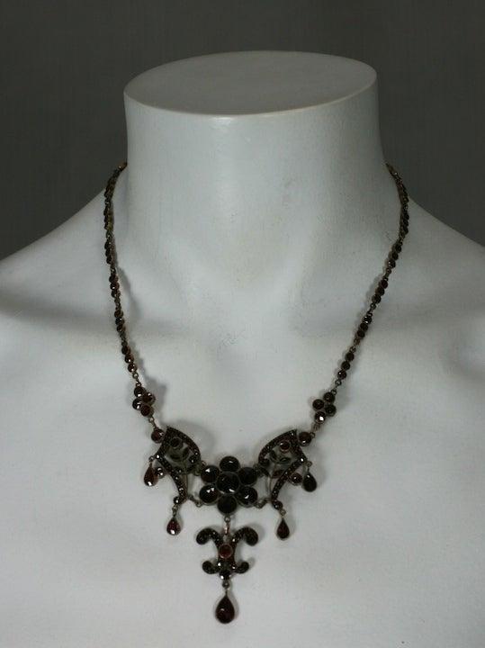 Ornate Victorian Garnet Necklace For Sale 2