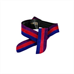 Jaeger Color Block Suede Belt