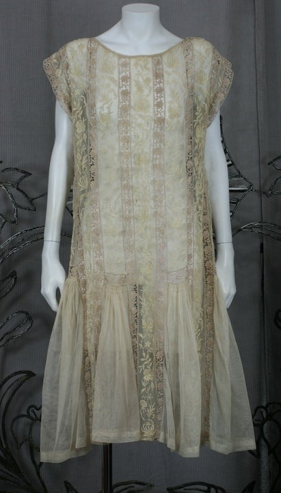 1920's Lace and Tulle Panel Dress 2