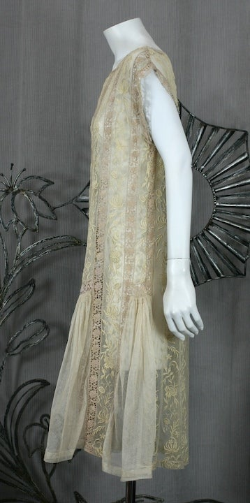 1920's Lace and Tulle Panel Dress 3