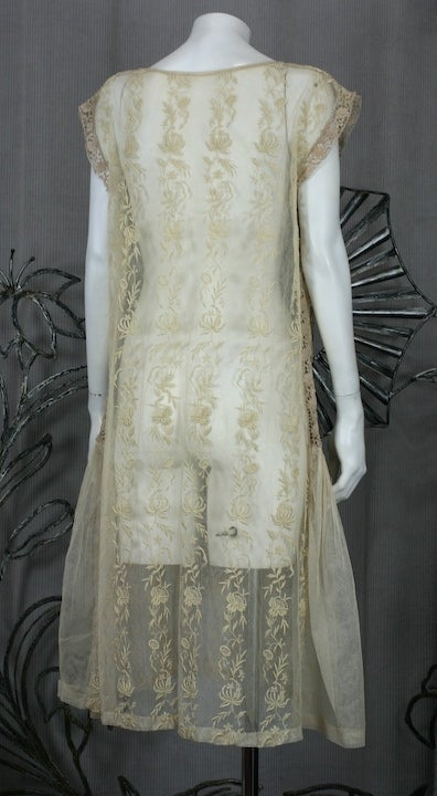 1920's Lace and Tulle Panel Dress 4