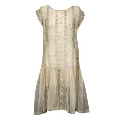 1920's Lace and Tulle Panel Dress
