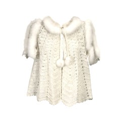 Hand Crochet Bed Jacket with Eiderdown