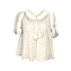 Hand Crochet Bed Jacket with Eiderdown