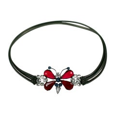 Schreiner Jeweled Butterfly Belt