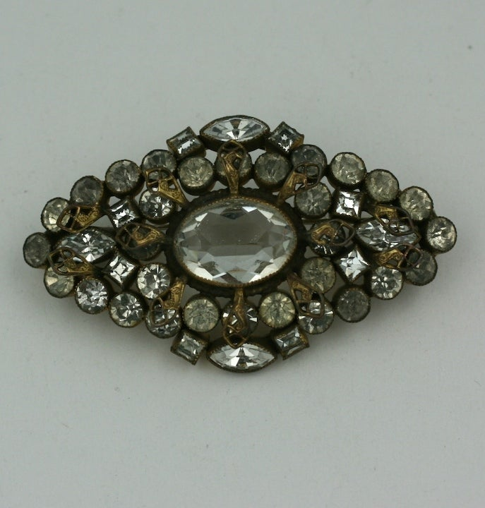 Czech Crystal Brooch, 1920's. 2