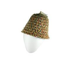 1950's Confetti Italian Beach Hat