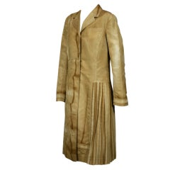 "Prada Silk Surreal Trompe L'Oeil Pleated ""Fur"" Coat"
