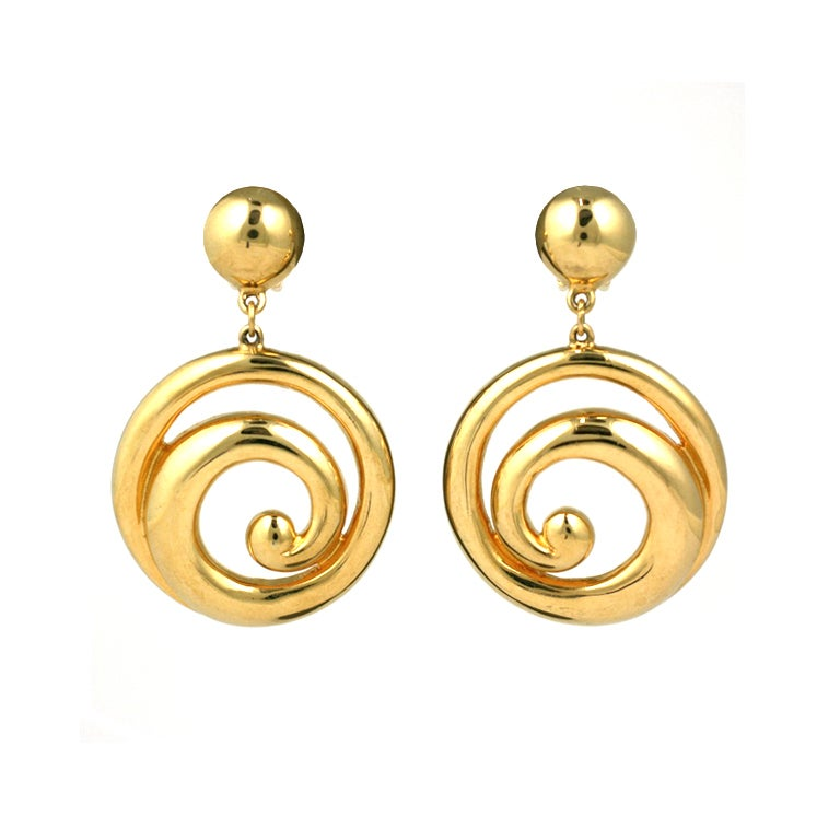 courreges spiral loop earrings for sale at 1stdibs