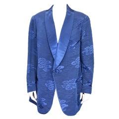 Mens Sulka Silk Jacquard Smoking Jacket