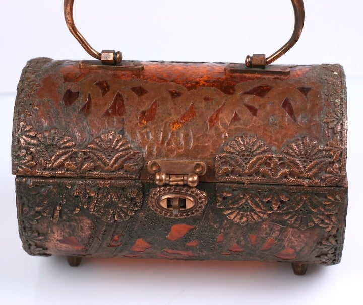 Walborg Unusual Copper Clad and Lucite Bag 3