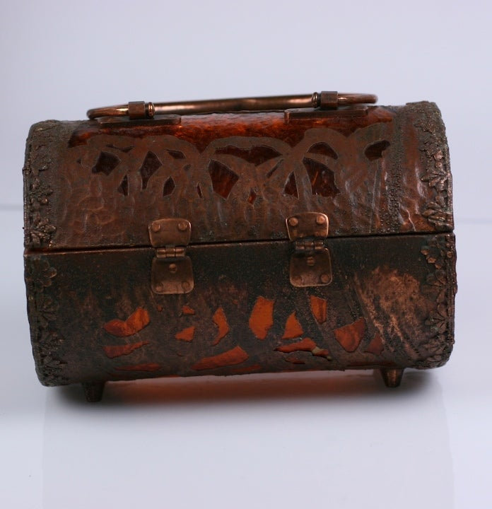 Walborg Unusual Copper Clad and Lucite Bag 4
