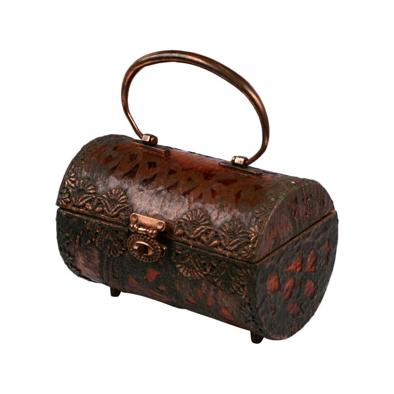 Walborg Unusual Copper Clad and Lucite Bag