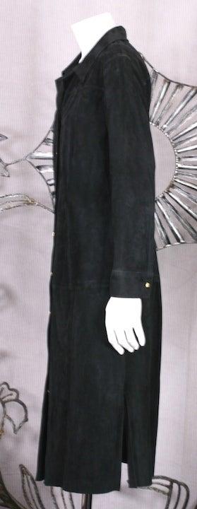 Gianni Versace Black Suede Shirtdress 4
