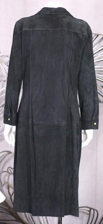 Gianni Versace Black Suede Shirtdress 5
