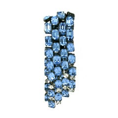 French Aquamarine Cascade Clip, Jacques Griffe, 1955