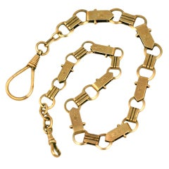 Victorian 14K Gold  Fob  Watch Chain