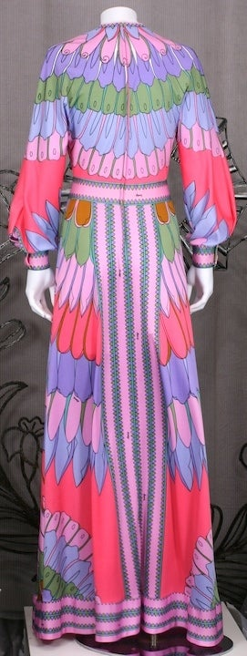 Women's Artemis Flower Petal Print Maxi Dress For Sale