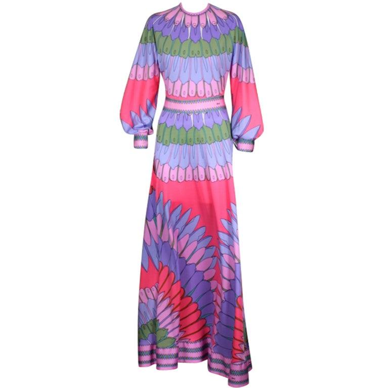 Artemis Flower Petal Print Maxi Dress