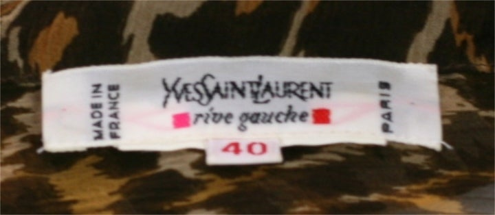 Yves Saint Laurent Silk Chiffon Leopard Blouse 5