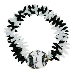 MWLC Zebra Agate Angel Fish Necklace