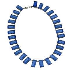 Art Deco Blue Crystal Necklace