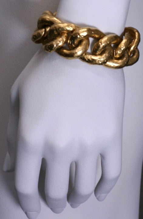 Hammered Givenchy Chunky Chain Bracelet 4