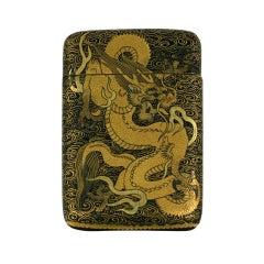 Komai Japanese Dragon Motif  Matchsafe
