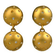 Givenchy Pave Ball Earrings