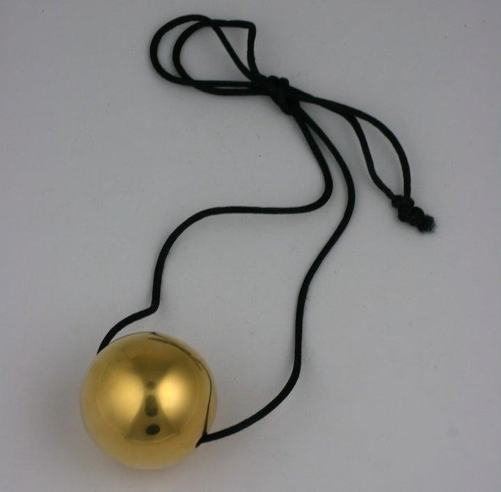 Golden Sphere Pendant at 1stdibs