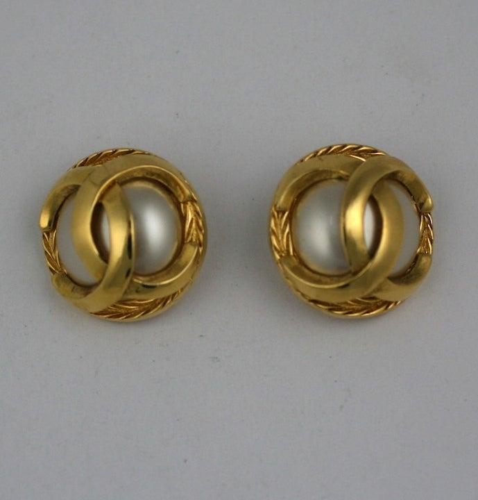 Classic Chanel Logo Earrings 2