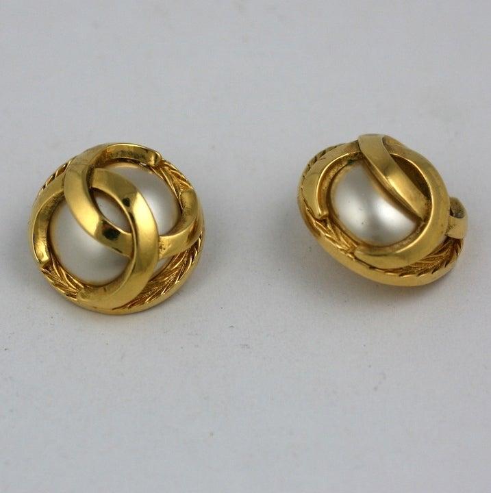 Classic Chanel Logo Earrings 3
