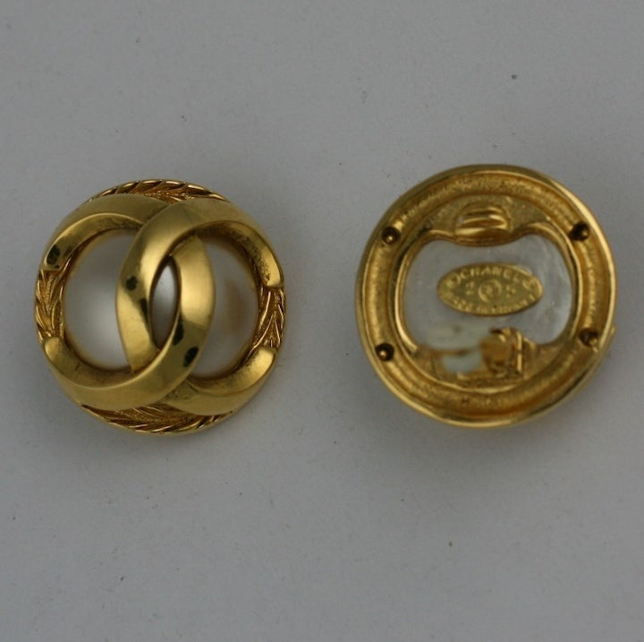 Classic Chanel Logo Earrings 4