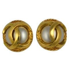 Classic Chanel Logo Earrings