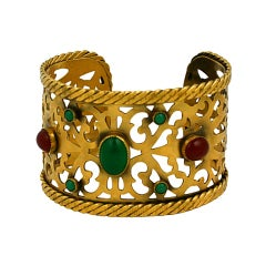 Yves Saint Laurent Baroque Jeweled Cuff