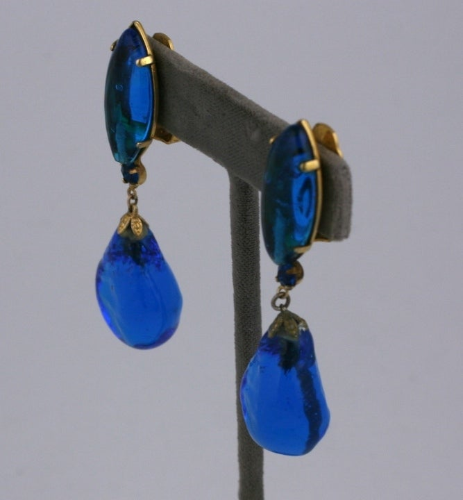 Aqua Poured Glass Earrings image 4